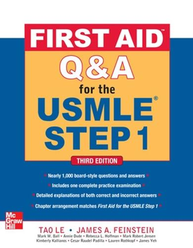 First Aid Q&A for the USMLE Step 1, Third Edition (Paperback)