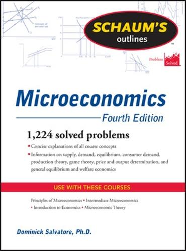 Schaum's Outline of Microeconomics, Fourth Edition (Paperback)