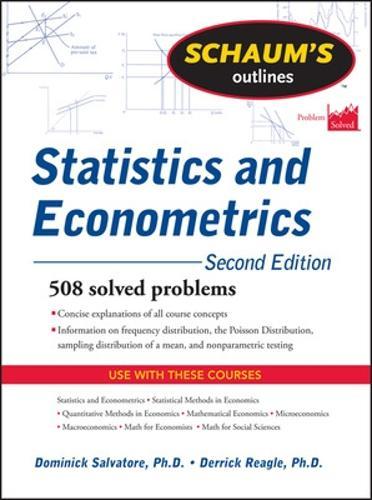 Schaum's Outline of Statistics and Econometrics, Second Edition (Paperback)