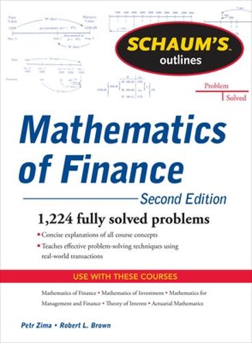 Schaum's Outline of Mathematics of Finance, Second Edition (Paperback)