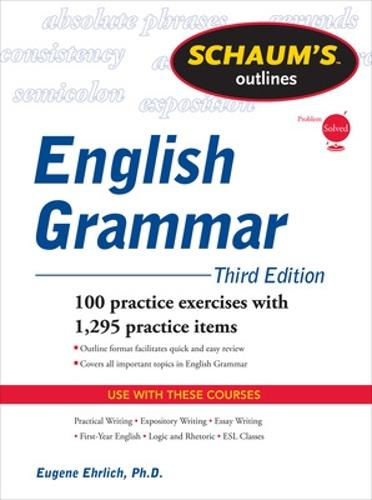 Schaum's Outline of English Grammar - Schaum's Outline Series (Paperback)
