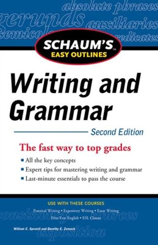 Schaum's Easy Outline of Writing and Grammar, Second Edition (Paperback)