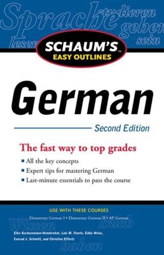 Schaum's Easy Outline of German (Paperback)