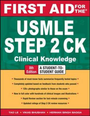 First Aid for the USMLE Step 2 CK - First Aid USMLE (Paperback)