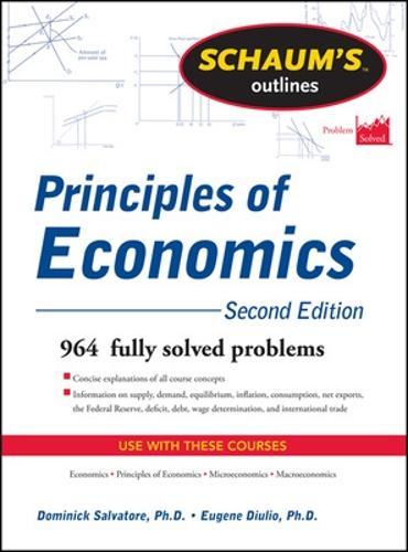 Schaum's Outline of Principles of Economics (Paperback)