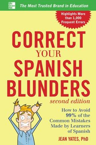 Correct Your Spanish Blunders (Paperback)