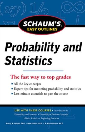 Schaum's Easy Outline of Probability and Statistics, Revised Edition (Paperback)