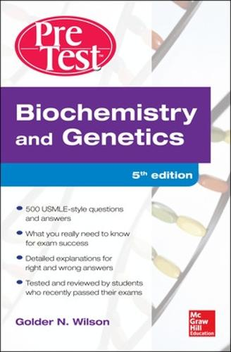 Biochemistry and Genetics Pretest Self-Assessment and Review - PreTest (Paperback)
