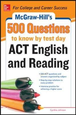 McGraw-Hill's 500 ACT English and Reading Questions to Know by Test Day (Paperback)