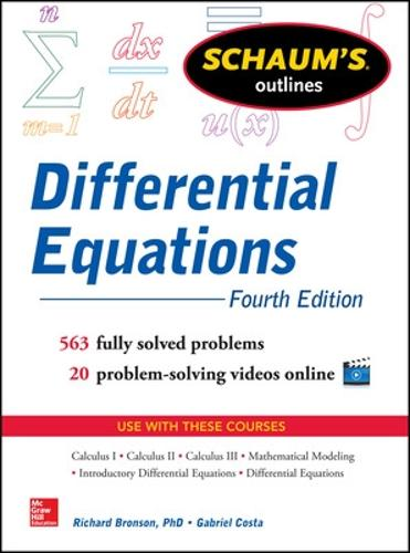 Schaum's Outline of Differential Equations (Paperback)