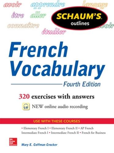 Schaum's Outline of French Vocabulary (Paperback)