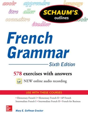 Schaum's Outline of French Grammar (Paperback)