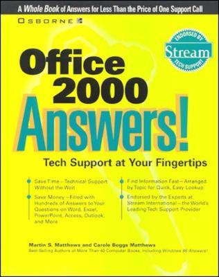 Office 2000 Answers!: Certified Tech Support - Answers! S. (Paperback)