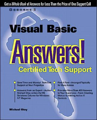 Visual Basic Answers!: Certified Tech Support - Answers! S. (Paperback)