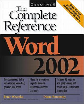 Word 2002: the Complete Reference - The Complete Reference (Paperback)