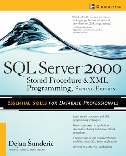 SQL Server 2000: Stored Procedure and XML Programming - Database (Paperback)