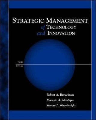 Strategic Management of Technology and Innovation (Hardback)