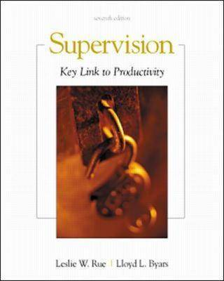 Supervision: Key Link to Productivity (Paperback)