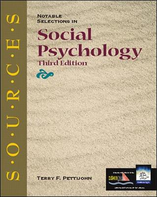 Sources: Notable Selections in Social Psychology - Classic Edition Sources (Paperback)