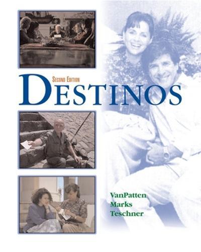 Destinos Student Edition w/Listening comprehension Audio CD (Hardback)
