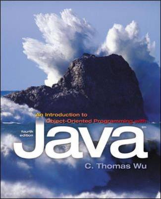 An Introduction to Object-oriented Programming with Java (Paperback)