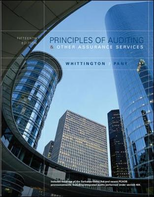 Principles of Auditing and Other Assurance Services (Hardback)