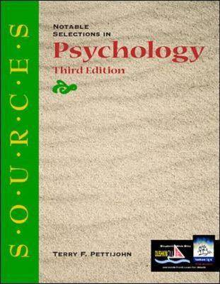 Notable Selections in Psychology - Classic Edition Sources (Paperback)