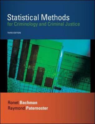 Statistical Methods for Criminology and Criminal Justice (Hardback)