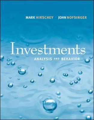 Investments: Analysis and Behavior (Hardback)