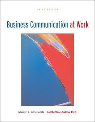 Business Communication at Work with OLC Premium Content Card (Paperback)