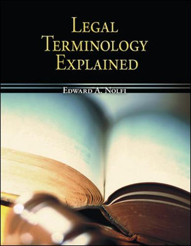 Legal Terminology Explained (Paperback)