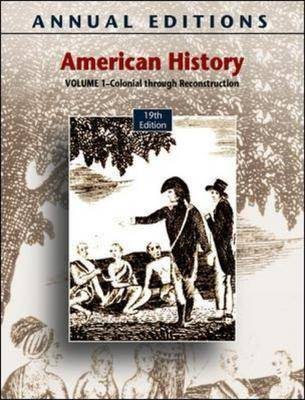 American History: v. 1 - Annual Editions (Paperback)