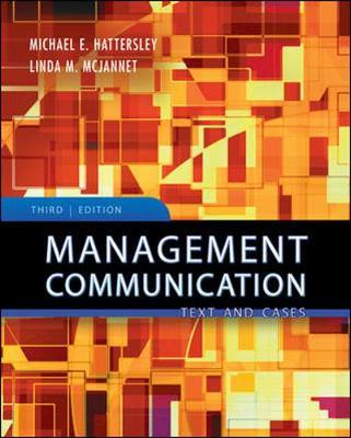 Management Communication: Principles and Practice (Paperback)