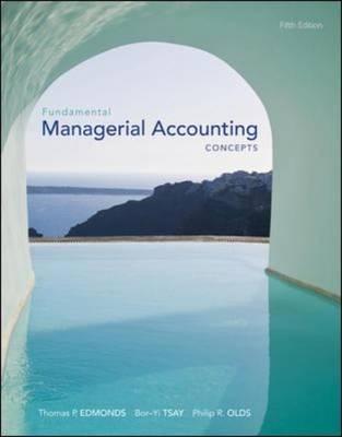 Fundamental Managerial Accounting Concepts (Hardback)