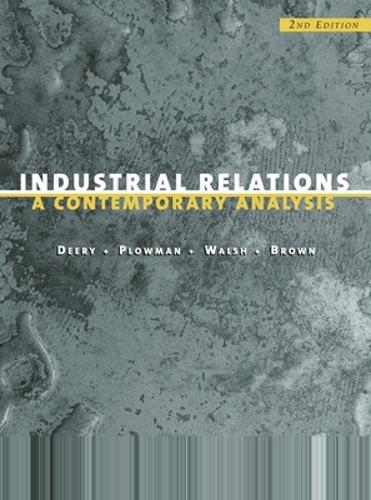 Industrial Relations: A Contemporary Analysis (Paperback)