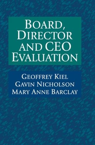 Board, Director and CEO Evaluation (Hardback)
