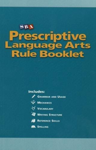 Prescriptive English, Language Arts Rule Booklet - INDIVIDUAL CORRECTIVE ENGLISH (Paperback)