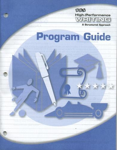 High-Performance Writing Advanced Level, Program Guide - DODDS WRITING PROGRAM (Book)