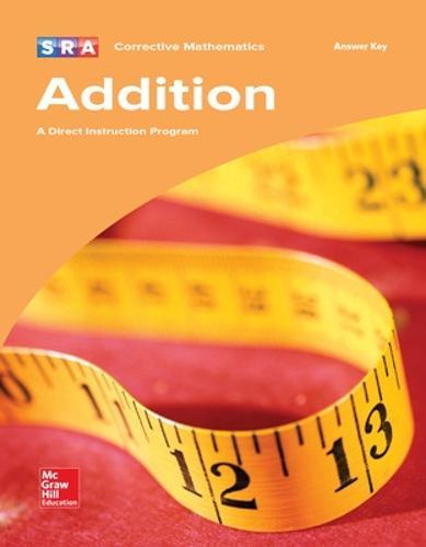 Corrective Mathematics Addition, Additional Answer Key - CORRECTIVE MATH SERIES (Book)