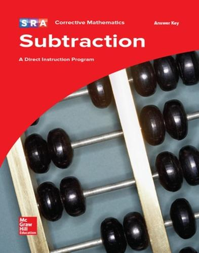 Corrective Mathematics Subtraction, Additional Answer Key - CORRECTIVE MATH SERIES (Book)