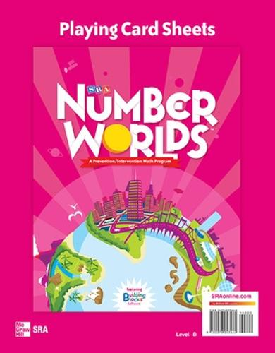 Number Worlds Level B, Playing Card Sheets - NUMBER WORLDS 2007 & 2008 (Spiral bound)