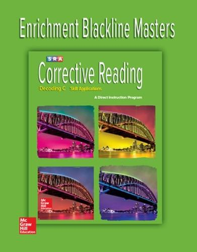 Corrective Reading Decoding Level C, Enrichment Blackline Master - CORRECTIVE READING DECODING SERIES (Paperback)