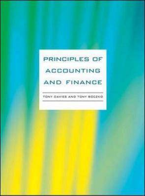Principles of Accounting and Finance (Paperback)