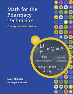 MP Math for the Pharmacy Technician with Student CD-ROM (Book)