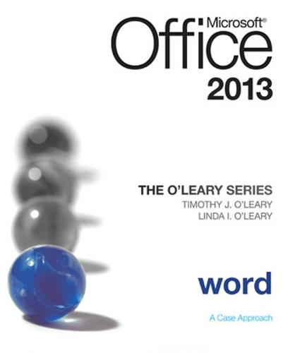 The O'Leary Series: Microsoft Office Word 2013, Introductory (Spiral bound)