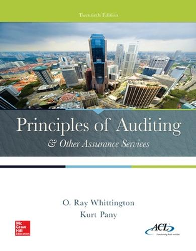 Principles of Auditing & Other Assurance Services (Hardback)