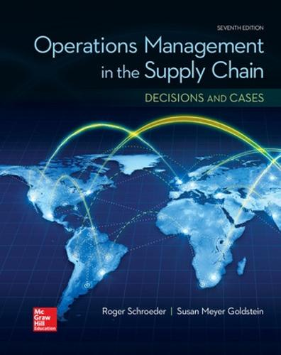 OPERATIONS MANAGEMENT IN THE SUPPLY CHAIN: DECISIONS & CASES (Paperback)