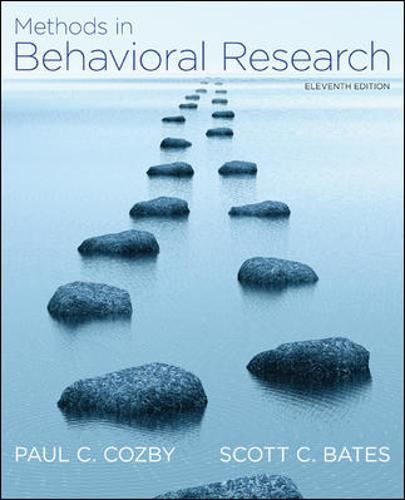 Methods in Behavioral Research (Paperback)