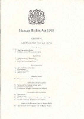 Human Rights Act 1998: Elizabeth II. Chapter 42 (Paperback)