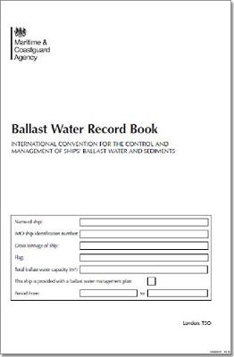 Ballast water record log book
